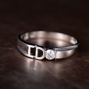 Yes I Do Promise Rings for Couples, Unique Polished ...