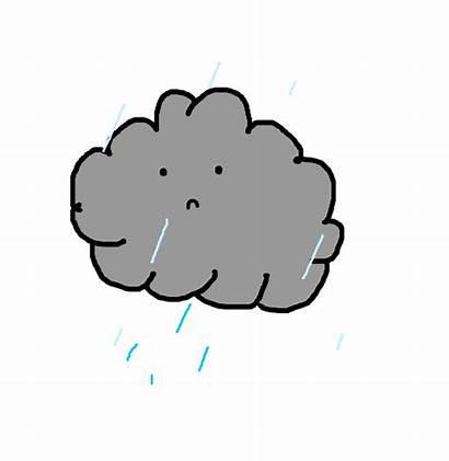 Animated Cloud Rain Raining Cry Transparent Gifs