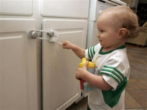 baby proof kitchen cabinets diy how to babyproof your home yellowbrick me