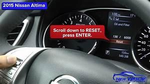 2015 Nissan Altima Oil Light Reset    Service Light Reset
