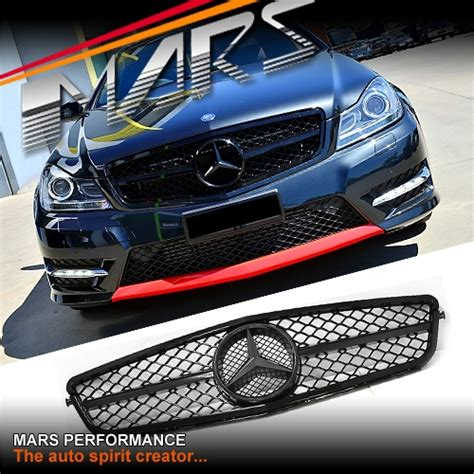 gloss black amg  style front grille  mercedes benz