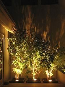 Außenbeleuchtung Haus Led : bodenstrahler im pflanzenbeet auf der terrasse ~ Lizthompson.info Haus und Dekorationen