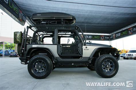 silver jeep 2 door 2012 sema kao custom black silver 2 door jeep jk wrangler