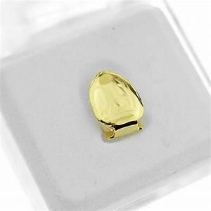 Gold Plain Single Tooth - Single Grillz