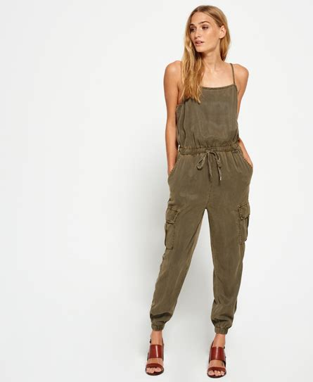 womens casual jumpsuits superdry cargo casual jumpsuit 39 s dresses