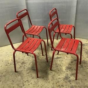 Chaise Bistrot Metal : chaises de bistrot en m tal meubles industriel anna colore industriale ~ Teatrodelosmanantiales.com Idées de Décoration