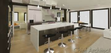 custom kitchen island 3 five 12 kitchen waterfall island