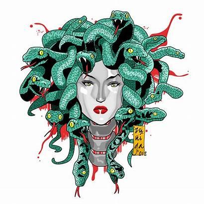 Greek Medusa Mythology Fan Fanart Drawings Mythical
