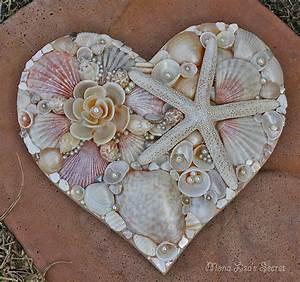 Seashell Heart Beach Wedding Decor Seashell Decoration
