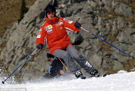 schumacher filmed ski accident  left  fighting
