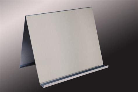 support livre de cuisine porte livre en aluminium brosse