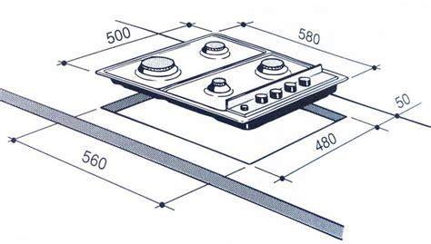 dimensioni piani cottura misure piano cottura 4 fuochi tovaglioli di carta