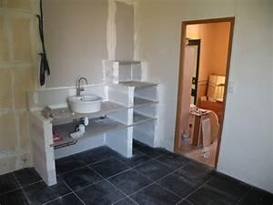 Meuble Plan De Travail : comment fabriquer un meuble vasque avec plan de travail solutions pour la d coration ~ Teatrodelosmanantiales.com Idées de Décoration