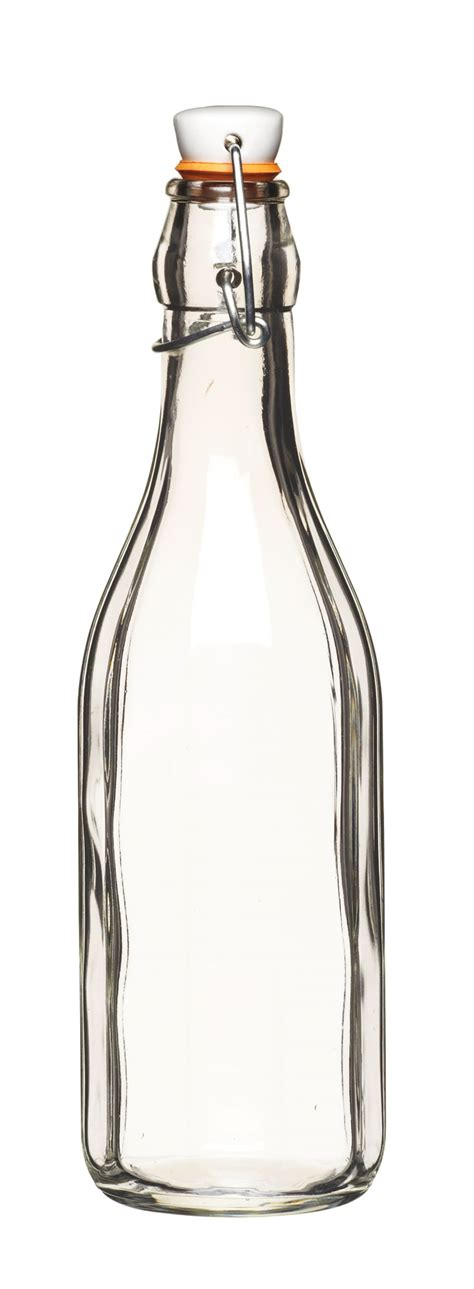 Bottle Clip 500ml Fluted Glass Bottle With Ceramic Clip Top 163 3 95