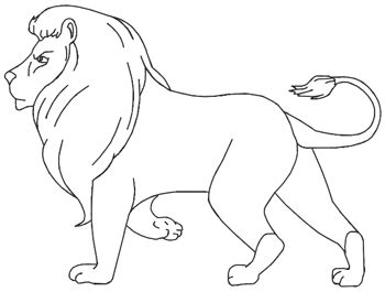 draw  lion   clip art  clip