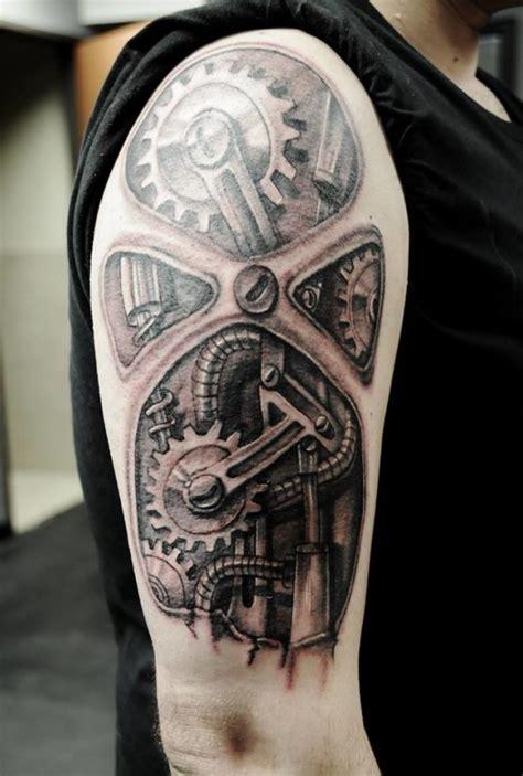 tatouage rouage tatouage biomecanique sur
