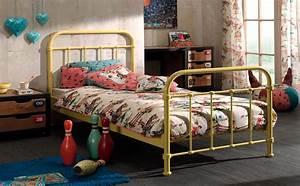 Betten 120 X 200 : metallbett new york liegefl che 120 x 200 cm gelb kinder jugendzimmer betten ~ Bigdaddyawards.com Haus und Dekorationen