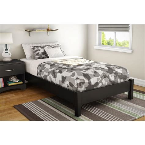 1854 south shore platform bed south shore step one size platform bed in black