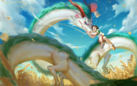 Spirited Away Haku Wallpaper Dragon Spirited Away Fan Art Anime Anime Girls Studio Ghibli Hd Wallpapers Desktop And