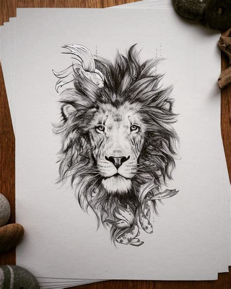 beautiful leo lion tattoos ideas  pinterest lion