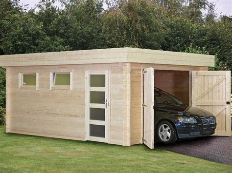 flat roof garage designs wooden house plans