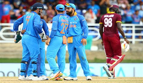 T20 Match Between India And West Indies Team Is Being Played
