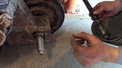 wheel bearing removal asv rc 50 back axle repair