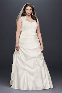 Cap sleeve satin a line plus size wedding dress style for Wedding gown preservation davids bridal