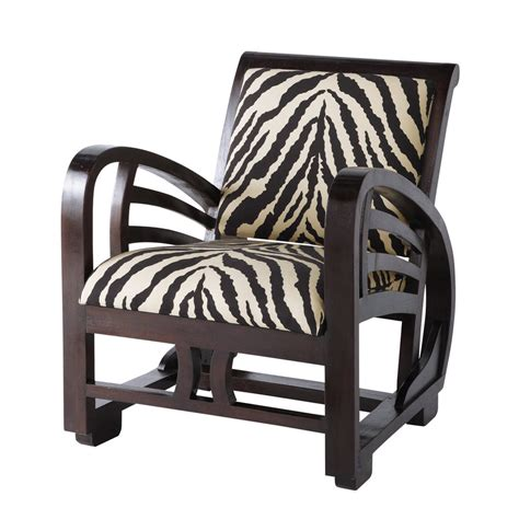 fauteuil de bureaux fauteuil de salon zèbre charleston maisons du monde