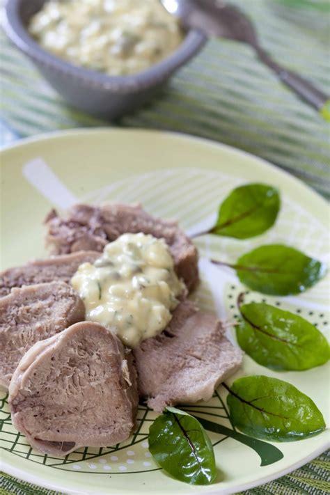 langue de veau sauce gribiche à l 39 estragon