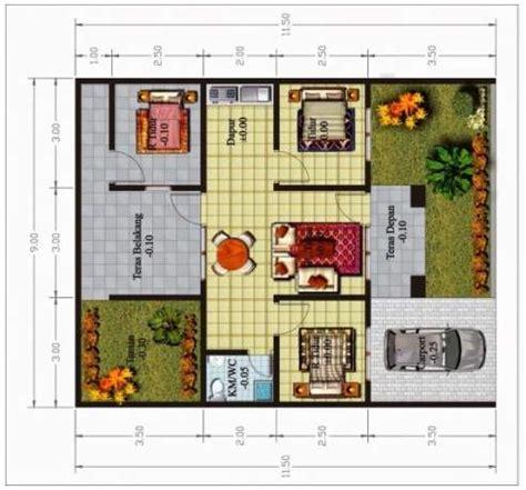 contoh denah rumah minimalis  lantai  kamar desain