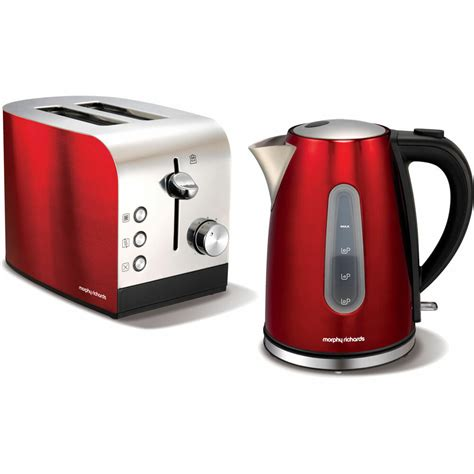 morphy richards kettle and toaster set morphy richards accents stainless steel 1 5l kettle