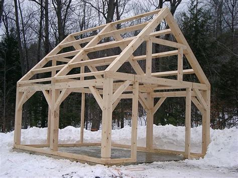 10x12 Shed Frame Kit by Timber Frame Shed Things To Build Beams