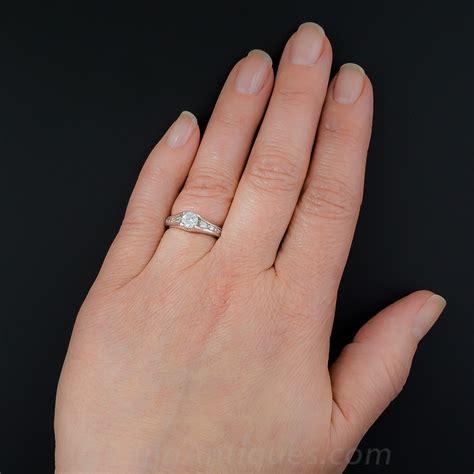 half carat estate engagement ring