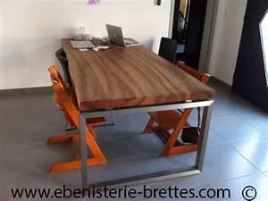 Table Bois Massif Contemporaine : table contemporaine en noyer ~ Teatrodelosmanantiales.com Idées de Décoration