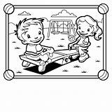 Coloring Park Pages Playground Playing Colouring Outside Seesaw Children Grade Equipment 5th Clipart Printable Bench Thank Worksheets Clipartpanda Getcolorings Visiting sketch template