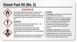 Diesel fuel oil labels for Diesel fuel msds