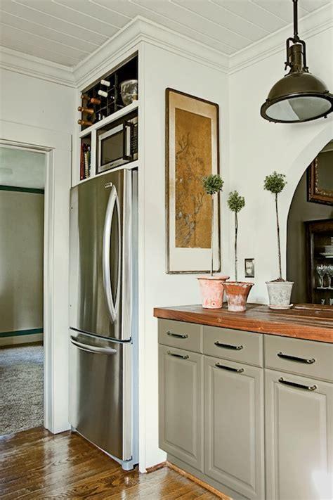walnut butcher block countertops cottage kitchen