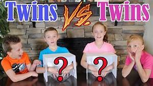 Twin Boys vs Twin Girls WHAT'S IN THE BOX CHALLENGE! Ninja ...