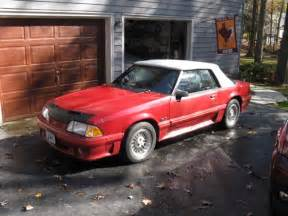 3rd gen red 1987 Ford Mustang GT convertible 5spd For Sale - MustangCarPlace