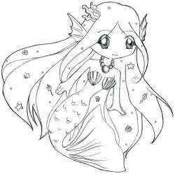 Cute Anime Chibi Mermaid Coloring Pages