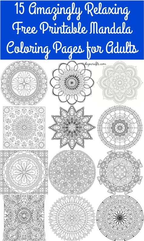 amazingly relaxing  printable mandala coloring