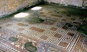 The geometric mosaic at Chedworth. | Download Scientific ...