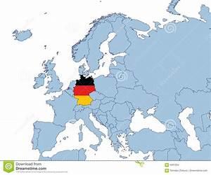 Duitsland Op De Kaart Van Europa Vector Illustratie