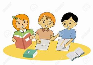 Kids Studying In School Clipart - ClipartXtras