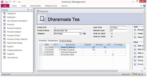 inventory control forms template  microsoft access