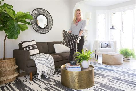 Contemporary Living Room On A Budget by Target Budget Living Room Emily Henderson