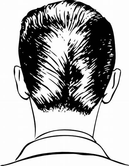 Haircut Clip Rear Clipart Short Vector Drawing