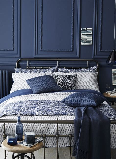 Navy Blue And White Bedroom by Indigo Home Accessories Melinda S Faves Navy Bedrooms