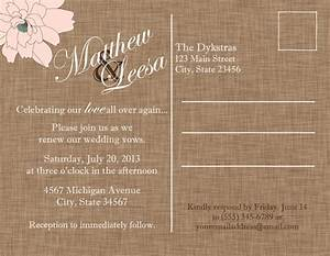 Vow renewal invitation mason jar postcard wedding for Free printable wedding vow renewal invitations